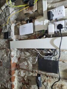Our network room, essential to provide top quality HMO broadband